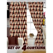 Set of 4 Printed Window curtain-5 feet-WNR_2_3051
