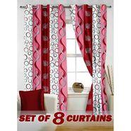 Set of 8 Printed  Window curtain-5 feet-WNR_4_2005