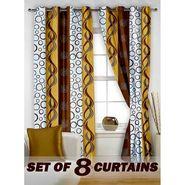 Set of 8 Printed  Window curtain-5 feet-WNR_4_2008