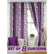 Set of 8 Printed  Window curtain-5 feet-WNR_4_2026
