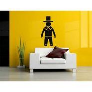 Black Men Decorative Wall Sticker-WS-08-079