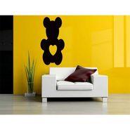 Black Teddy Decorative Wall Sticker-WS-08-137