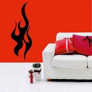 Black Fire Wave Wall Sticker-WS-08-165