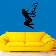 Black Angel Decorative Wall Sticker-WS-08-182
