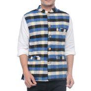 Sobre Estilo Sleeveless Nehru Jacket For Men_WV0013272 - Black