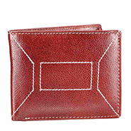 Walletsnbags NDM Stitch Leather Wallet - Brown_W 11 - TN