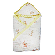 Wonderkids Printed Hooded Blanket - White - MW119-POLPRI