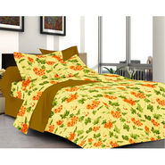 Valtellina Multi Color Florish Design Double bedsheet With 2 Pillow cover