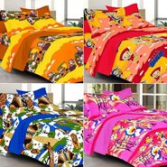Valtellina Combo of 4 Kids Double Bed Sheets with 8 Pillow Covers-YTD_C2_35_42_44_45