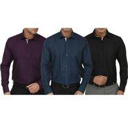 Pack of 3 Fizzaro Full Sleeves Cotton Shirts For Men_Fs10234