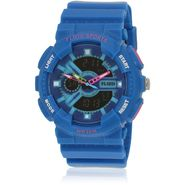 Fluid Analog & Digital Round Dial Watch For Unisex_d04bl01 - Blue