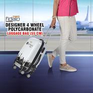 Fidato Designer 4 Wheels Polycarbonate Luggage Bag - 55 cm