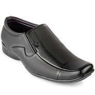 Foot n Style Leather Black Formal Shoes -fs3089