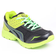 Foot n Style Synthetic Leather Sports Shoes FS 453 -Grey & Yellow