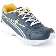 Foot n Style Synthetic Leather Sports Shoes FS 491 -Grey & Yellow