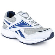 Foot n Style Synthetic Leather Sports Shoes FS 519 -White & Blue