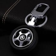 Pack of 2 Cool SKODA Wheel Keychains