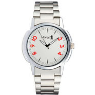 Mango People Analog Round Dial Watch For Men_mp013 - Silver