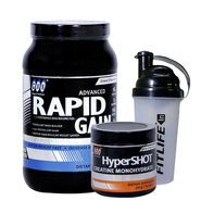 GXN Advance Rapid Gain 2 Lb (907g) Chocolate + Hyper Shot 300g