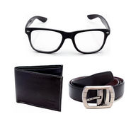 Combo of Porcupine reversible Belt + Wallet + Sunglasses with free cover_GRJCOMBO-1