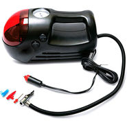 Mini Car Air Compressor Pump Inflator with Red LED
