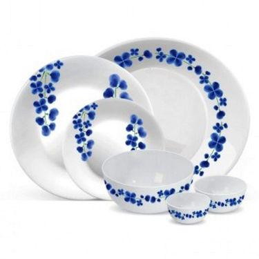 Treo Bormioli Autumn Blue FlowerPack of 27 Dinner Set(Glass)_LE-TREO-007-27