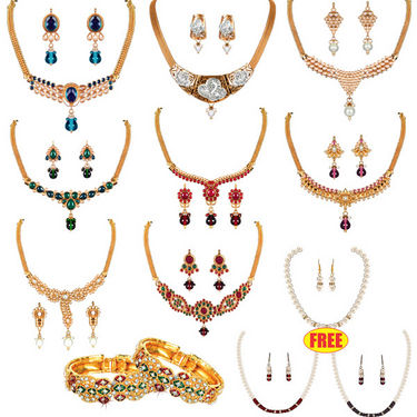 Naaptol Best Deals on Gold Plated Jewelry at Extra 80% Off - Rs 1999