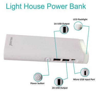 Callmate Power Bank Light House 12000 mAh - White