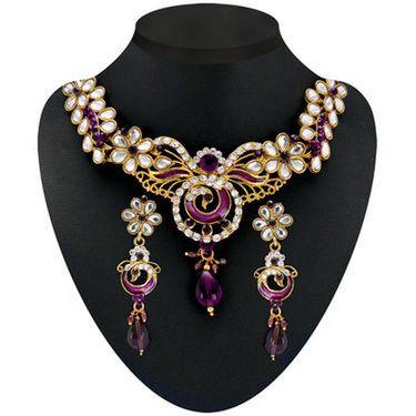 Kriaa Combo of 5 Jewellery Set With Free Payal & Kada & Ring