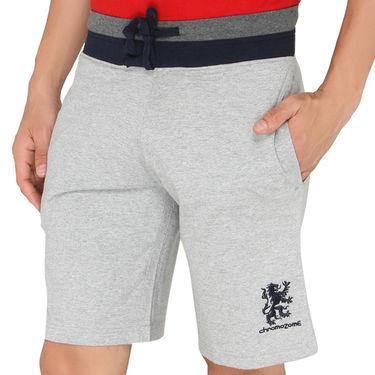 Chromozome Regular Fit Shorts For Men_10288 - Grey