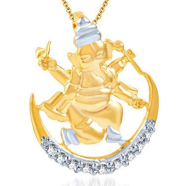 Sukkhi Incredible Gold and Rhodium Plated CZ God Pendant