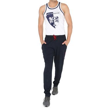 Chromozome Regular Fit Trackpants For Men_10539 - Navy