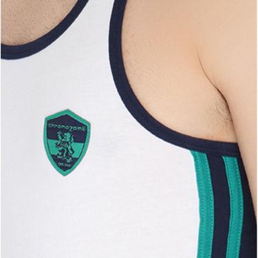Chromozome Regular Fit Vest For Men_10569 - White & Navy