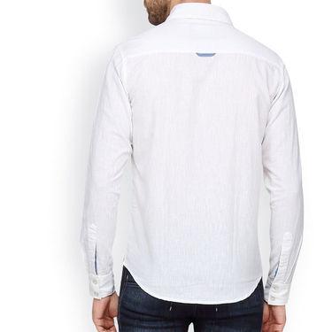 Crosscreek Full Sleeves Cotton Casual Shirt_1180313 - White