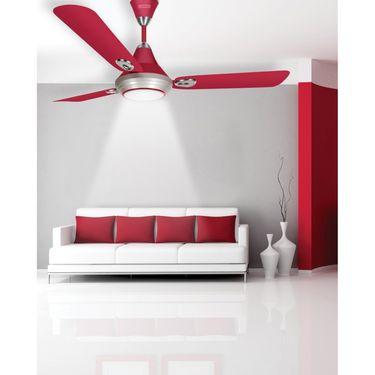 Luminous 1200MM Lumaire Underlight Ceiling Fan Wine Red