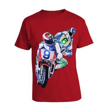 LitFab - Tshirts with LED - 96 Bikes - Red