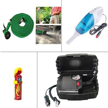 Combo of Vaccum Cleaner + Fire Extinguisher + Air Compressor + Hose Pipe