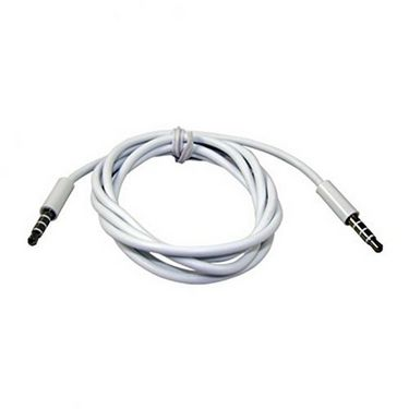 Flashmob Aux Cable With Mic - White
