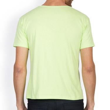 Incynk Half Sleeves Printed Cotton Tshirt For Men_Mht213p - Pista