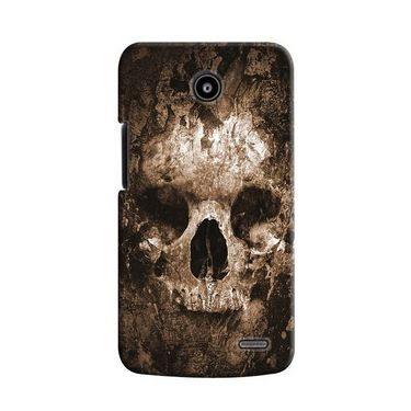 Snooky 19919 Digital Print Hard Back Case Cover For Lenovo A820 - Brown