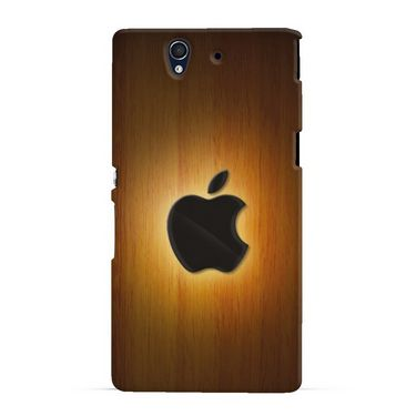 Snooky 19733 Digital Print Hard Back Case Cover For Sony Xperia Z - Brown