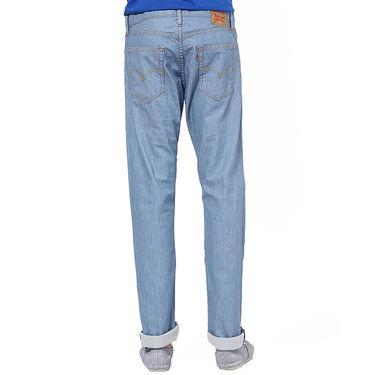 Levis Slim Fit Cotton Jeans For Men 504 Light Blue