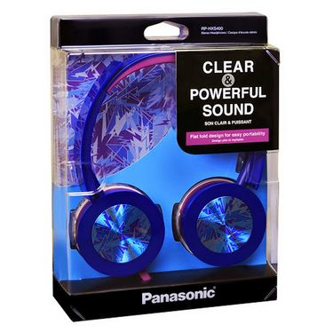 Panasonic RP-HXS400E-A Stylish Stereo Headphone with Swivel Mechanism - Blue