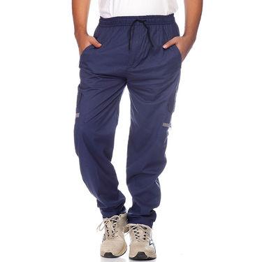 Delhi Seven Cotton Plain Lower For Men_Mumpj023 - Blue