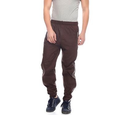 Delhi Seven Cotton Plain Trackpant For Men_Mutpm033 - Coffee