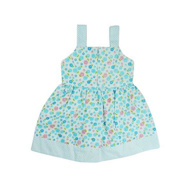 Ole Baby Sleeveless Chikankari Embroider Frock with Patch Work_OB-PFRC-423