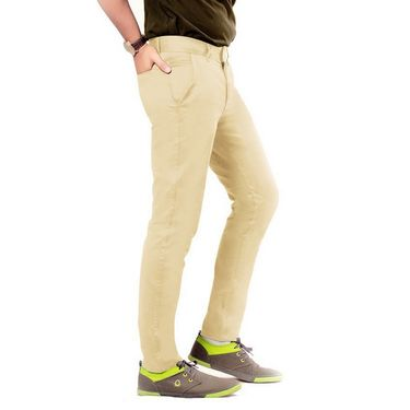 Uber Urban Regular Fit Cotton Chinos For Men_70051731435Bg - Beige