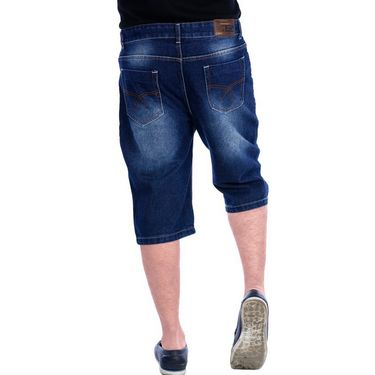 Uber Urban Regular Fit Cotton Capri For Men_Mndkblu - Dark Blue