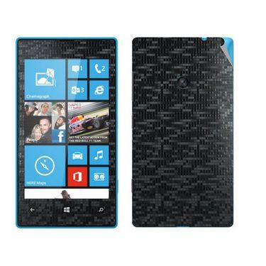 Snooky Mobile Skin Sticker For Nokia Lumia 520 20981 - Black