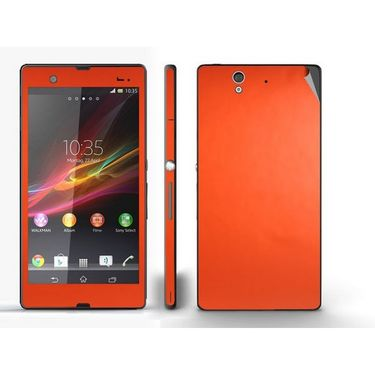 Snooky Mobile Skin Sticker For Sony Xperia Z 20835 - Orange